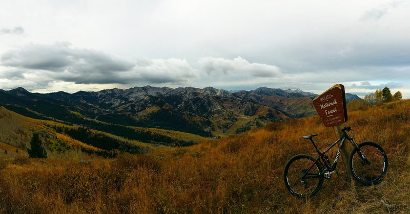 Looking over at Solitude from the Wasatch Crest Trail. This is the stuff MTB dreams are made of!