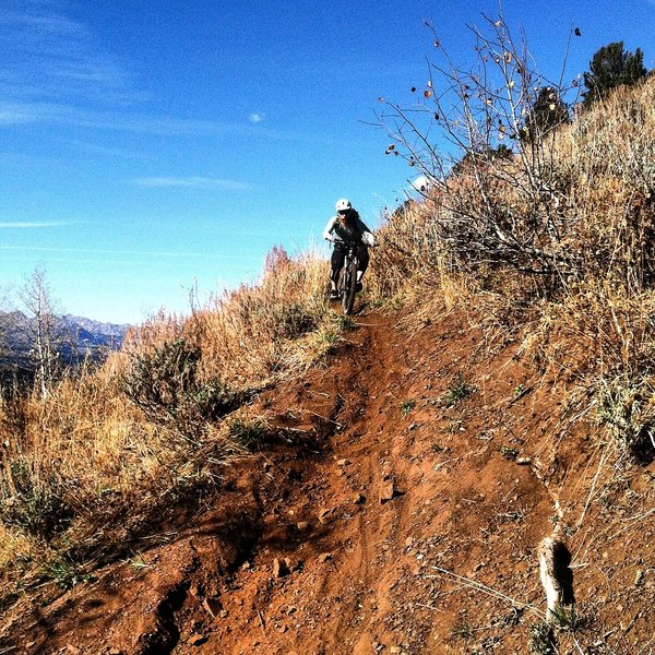 Heading into a tight switchback.
