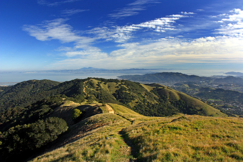 View from Big Rock Ridge looking East at Mt Diablo in the distance