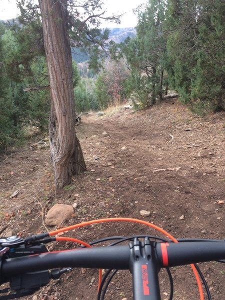 A few of these final technical descents can be a little hairy between erosion and the exposed boulders. Be cautious the less experience you have.