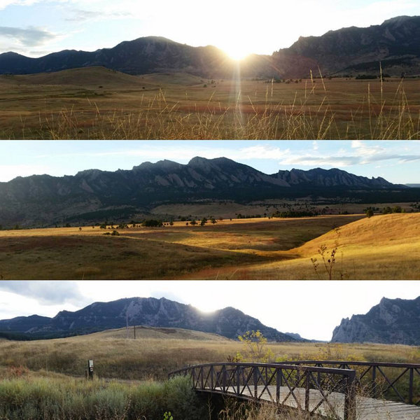 Fast trail with beautiful views of the front range from the Community Ditch trail.
