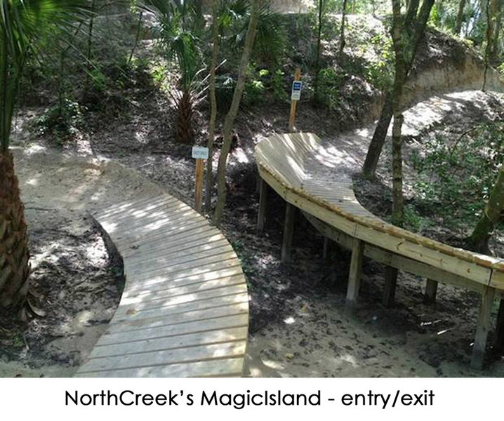 North Creek's Magic Island - entry/exit