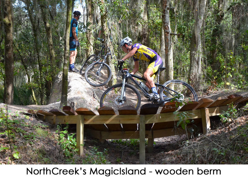 Riders test their skills on Magic Island.