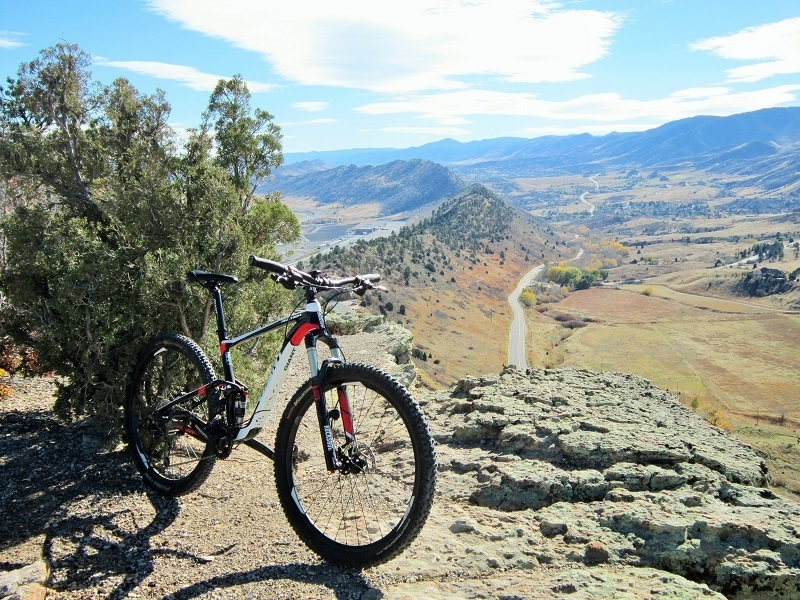 It's all downhill from here on the Dakota Ridge trail!