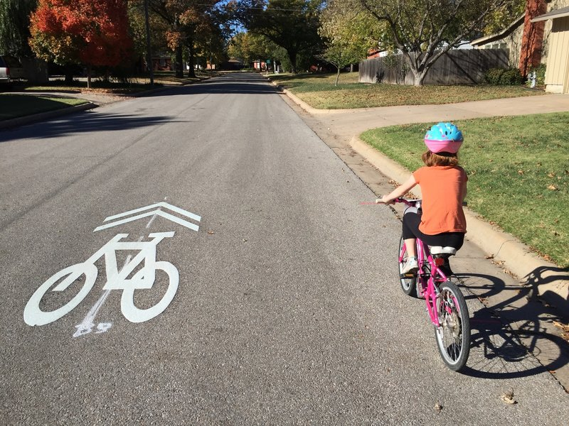 A fun ride on the bike boulevard!