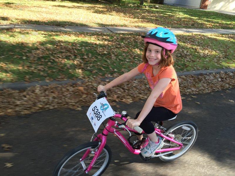 Yep, she rode that bike at Take A Kid Mountain Biking Day!
