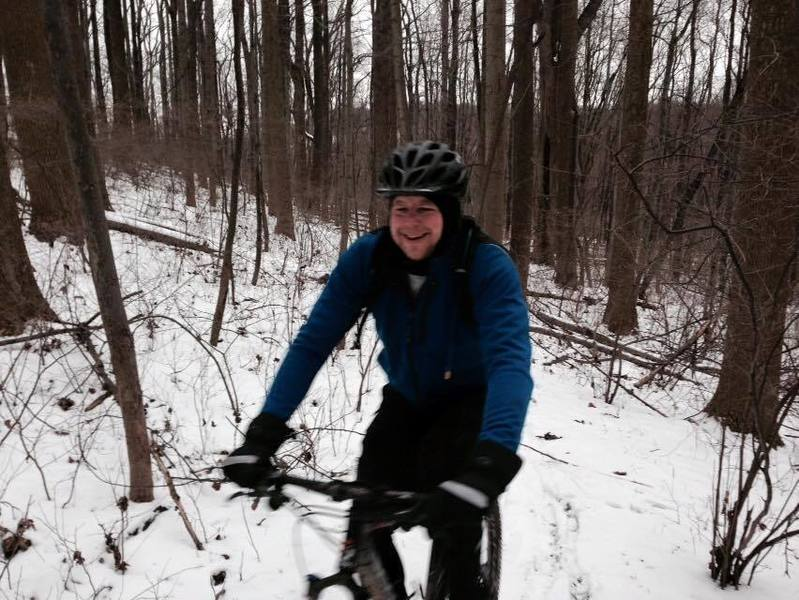 Creek trail fun in the middle of winter!