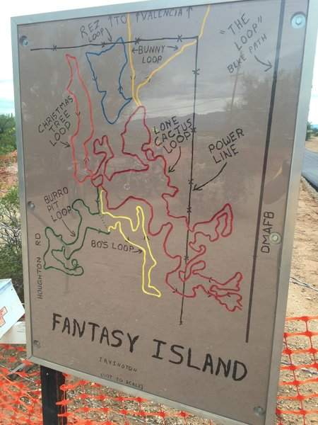 Lone Cactus trailhead entrance to Fantasy Island.