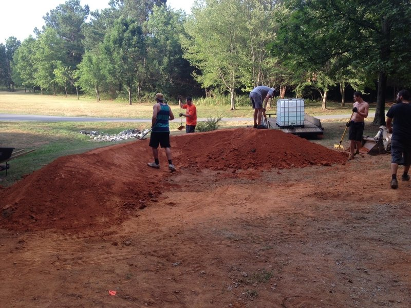 The start of the North Mecklenburg pump track rebuild that was completed Summer of 2015