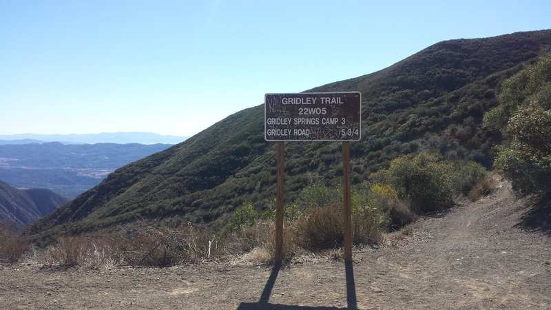 Enjoy the view from the top of the Gridley Trail!