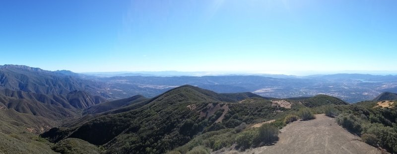 The view from Nordhoff Peak.