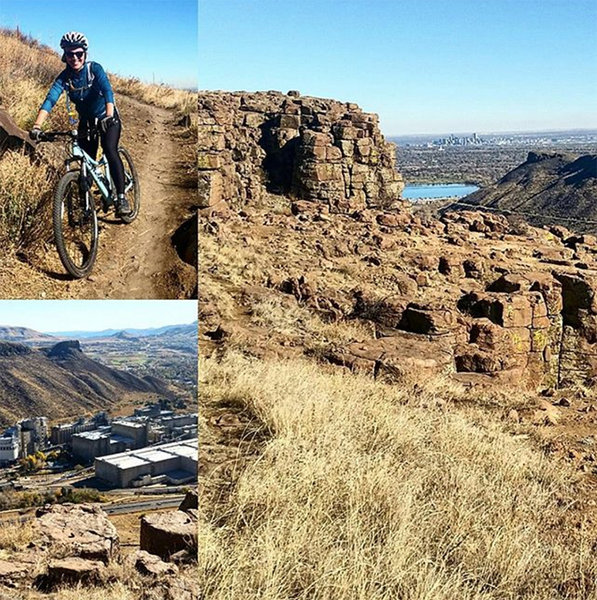 Some good flow and climbing involved rewarded by great views of Golden and Denver.