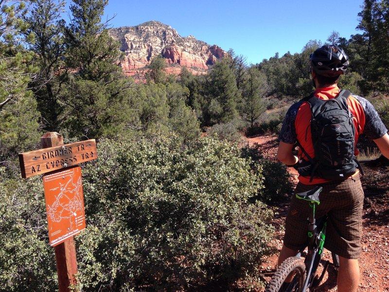 Matt admires the scenery on Girdner.