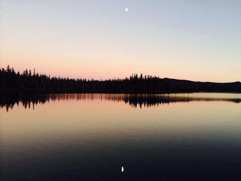 Summit Lake sunset.