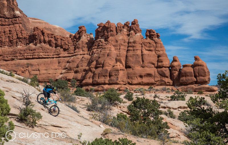 A Goblin Valley-esque rock formation on Ramblin', in the Navajo Rocks area.
