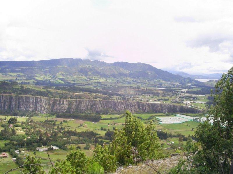 Climbing cliffs in Suesca.