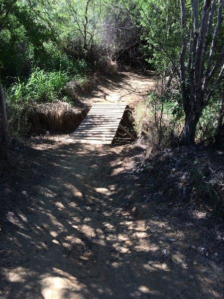 Small bridge over the creek.