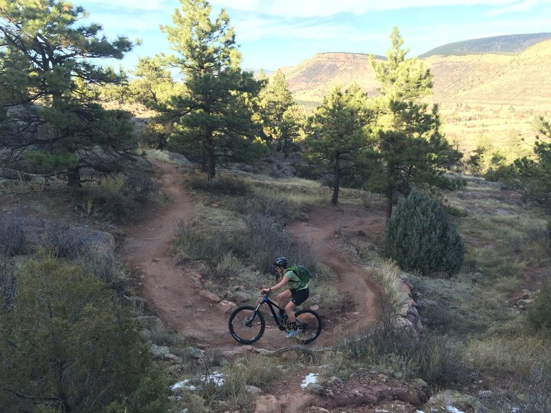 Riding up a tight switchback on Antelope Trail.