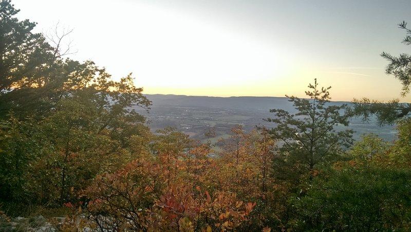 Sunset from Massanutten Ridge.