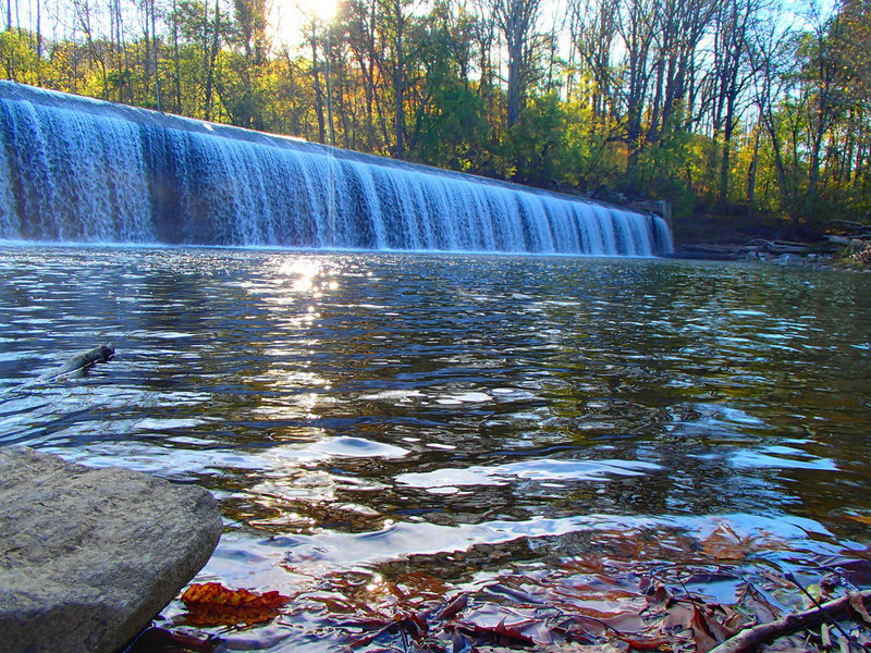 Daniels Dam is a beautiful stopping spot if you're in Patapsco State Park.