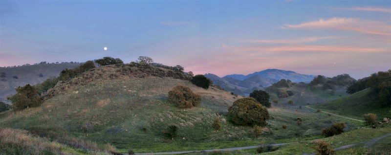 Mt. Diablo at sunset, as seen from the Fossil Hill Loop.