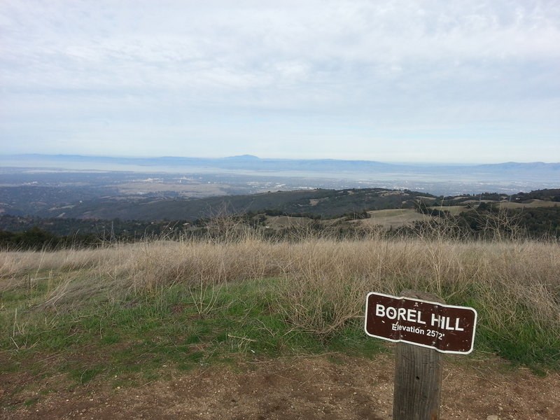 Worth taking the little detour to the top of the Borel Hill for a nice Bay view