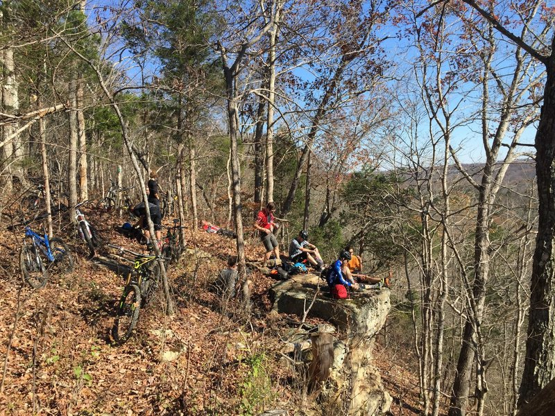 Lunch at Indian Creek Overlook.