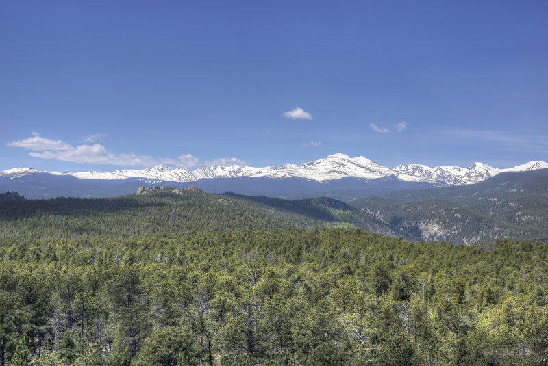 The Indian Peaks from Miller Rock