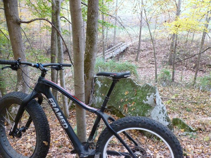 Fat bike on Tomahawk Trail.