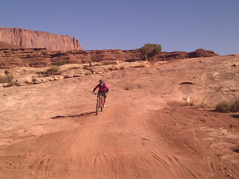 Riding the White Rim Trail on a 3-day Tour with Rim Tours. This photo was taken on the Jug Handle Loop.