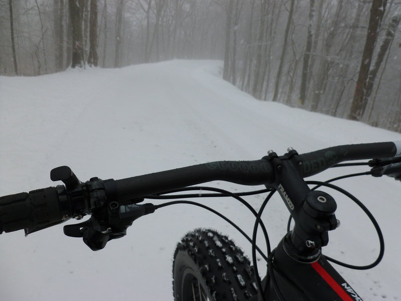 Winter ride on the North Bend Rail Trail.