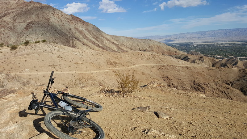 Made it to the top, wishing that I had a full suspension for the fun ride back down.