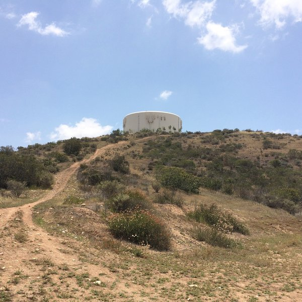 Water tower on South Poway Trail.
