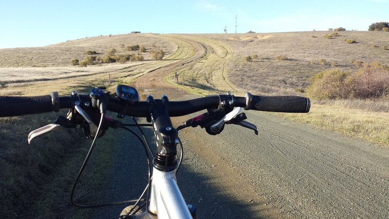 Last pitch to Black Mountain on Monte Bello Road.