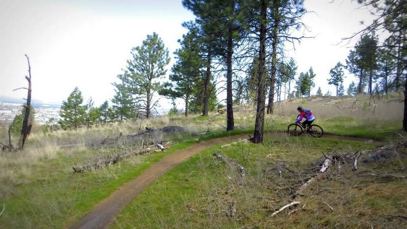 The trail overlooks Spokane with some great views.