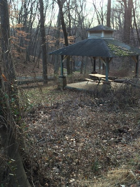 One of several gazebos in Mineral Spring Park, near East Ends Athletic Association.