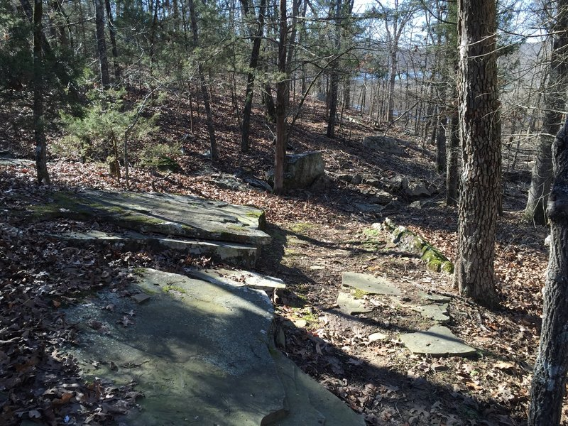 Some of the awesome exposed rock in this area.