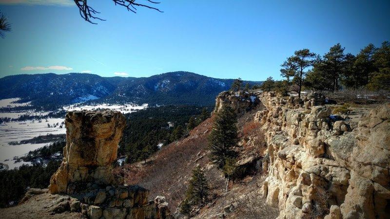 View westward to the Rockies.