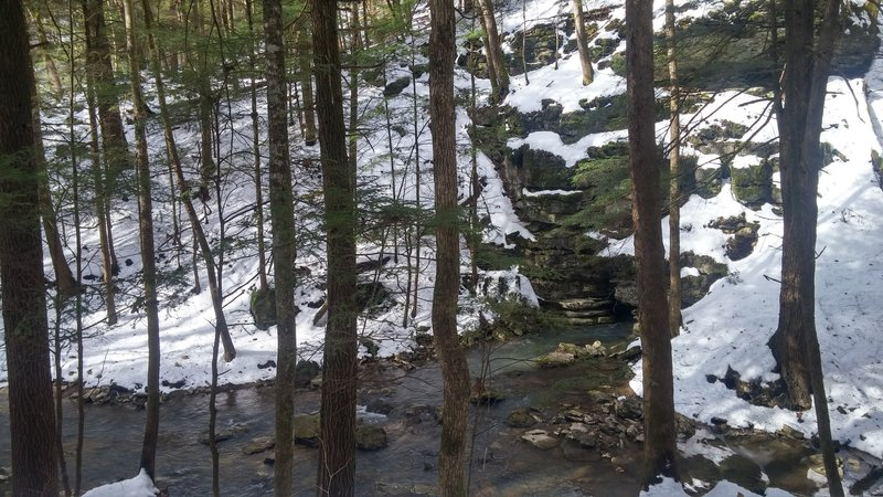 View from the trail: Little Sinking Creek coming unsunk