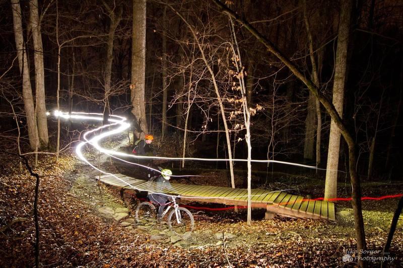 Night ride on Saunders Springs!