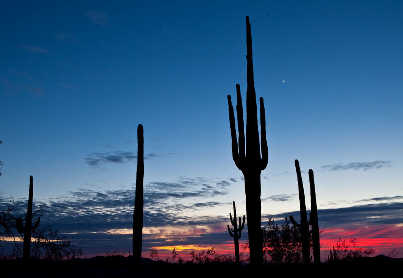 Beautiful sunsets are one of the highlights of the Maricopa Trail.