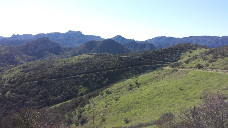 View of White Horse Canyon Trail, looking south.