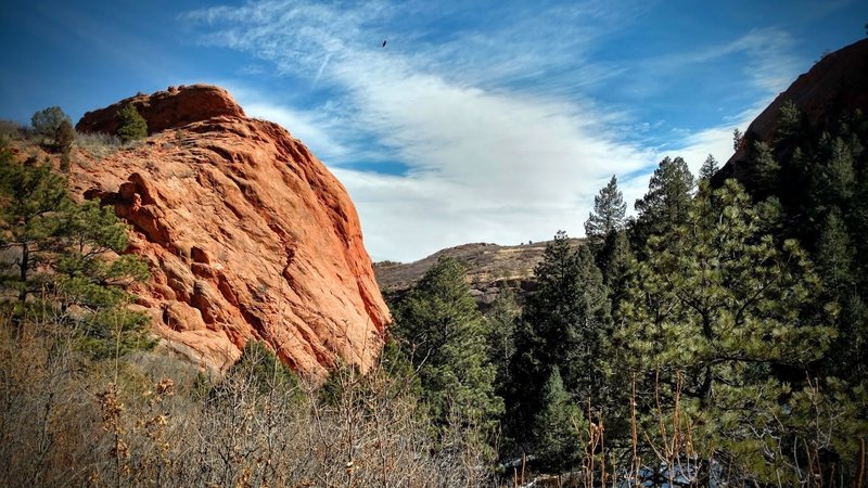 Red rock formations.