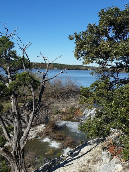 View of Cedar Lake from the top of the Spillway climb.