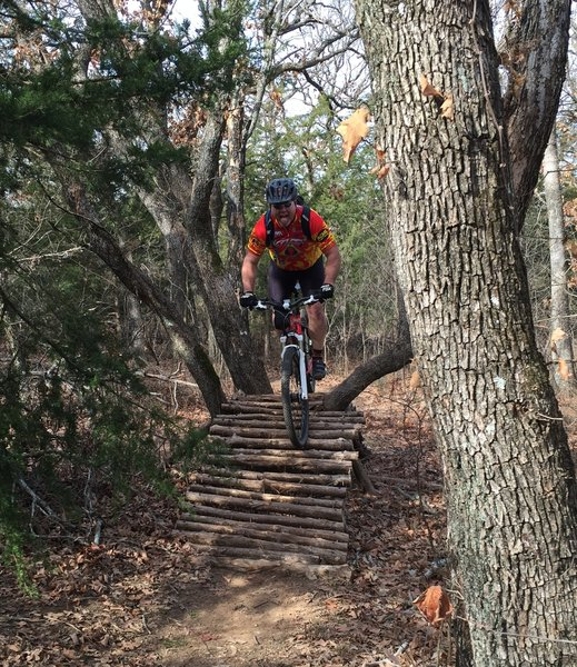 One of several fun trail features on the Red Trail!