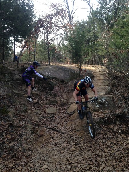 Tyler rode off the big rock on the Yellow Trail!  It can be done!