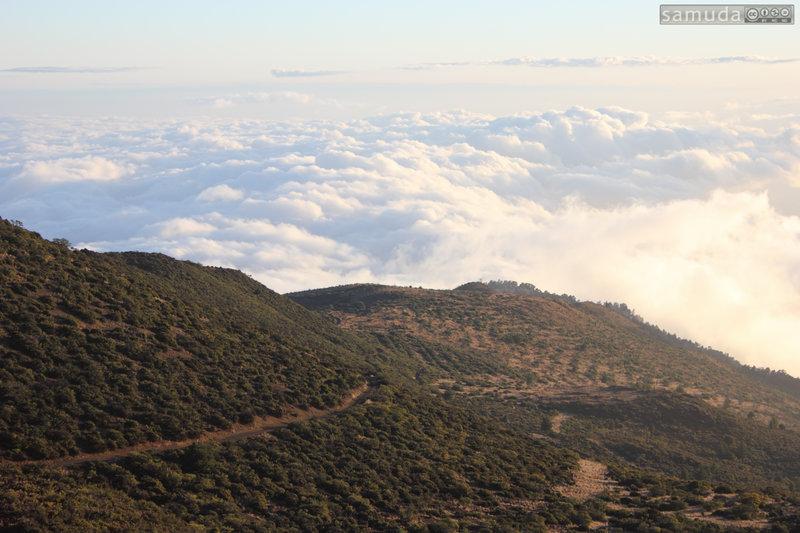 Cinder Road along ridge line.