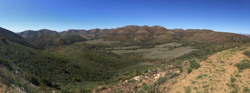 Valley views.