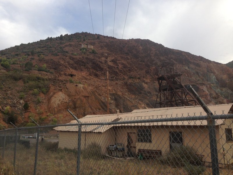 An old building of the copper mine.