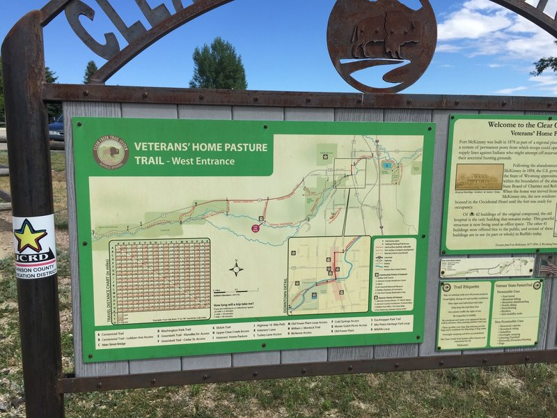 Each of the main trailheads has one of these trail guides.